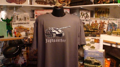 Jagdpanther WW2 German Panzer Tank T Shirt GRAY PIC.JPG