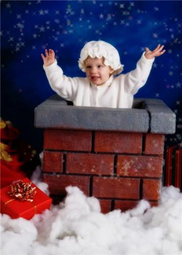 CHIMNEY PHOTO PROP CHILDREN CHRISTMAS HOLIDAY NEW AAA Photo Supply