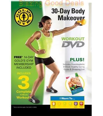 GOLD'S GYM ~ 30-DAY BODY MAKEOVER WORKOUT DVD ~ PLUS ...