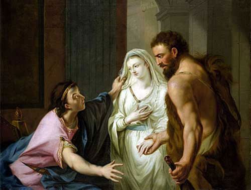 King Admetus Mourning the Death of Alcestis