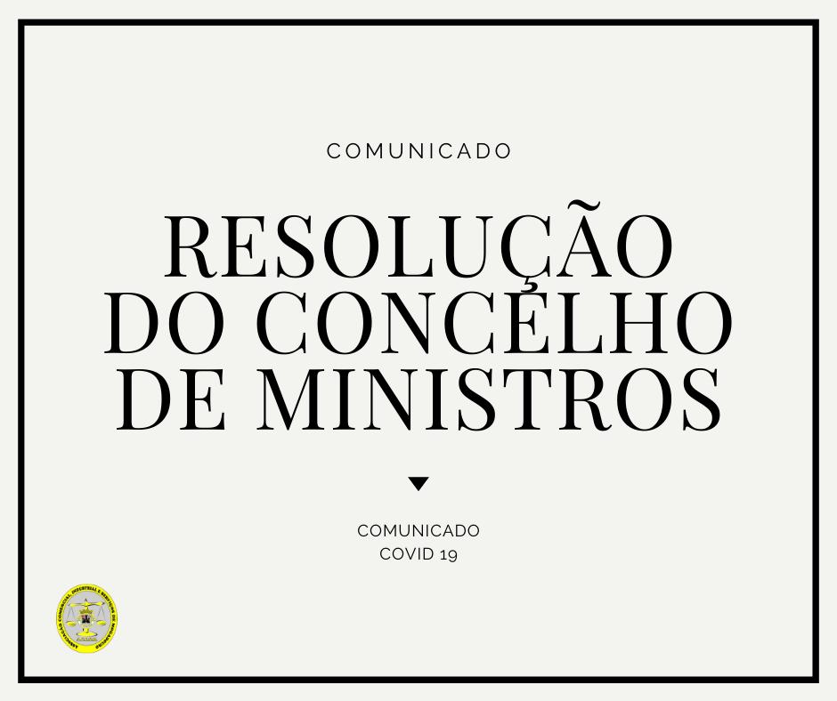 Resolução do Concelho de Ministros