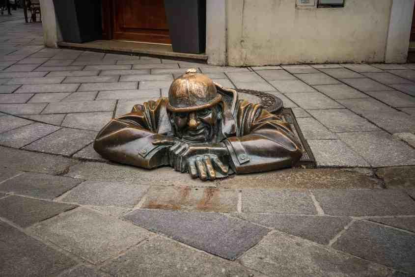 Man At Work Statue - Slovakia