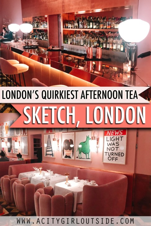 Afternoon tea at Sketch is a must do experience when visiting London.