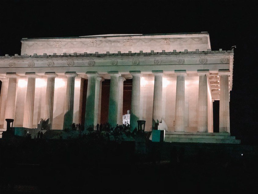 Taking a tour through the National Mall at night is a different to experience the many iconic buildings during your 2 days in Washington DC