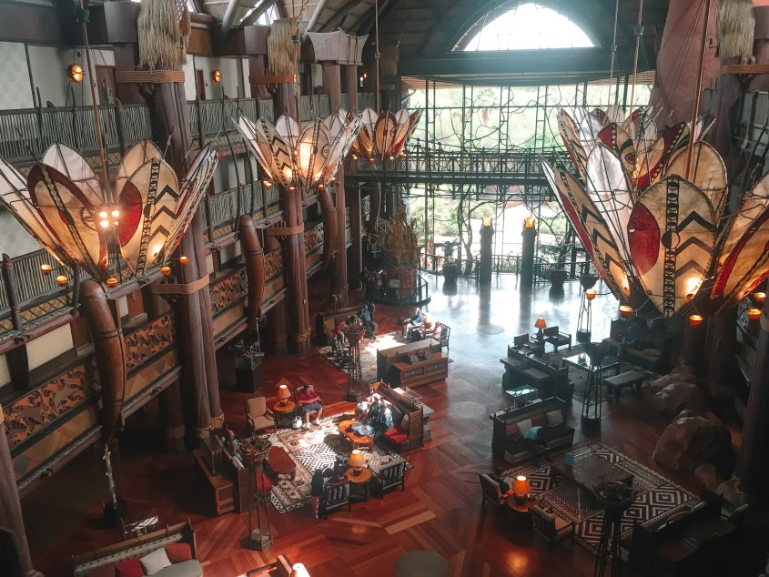 Lobby of Disney's Animal Kingdom Lodge Club Level