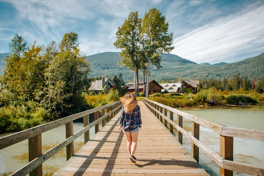 Green Lake foot bridge is one of the best location spots in Whistler