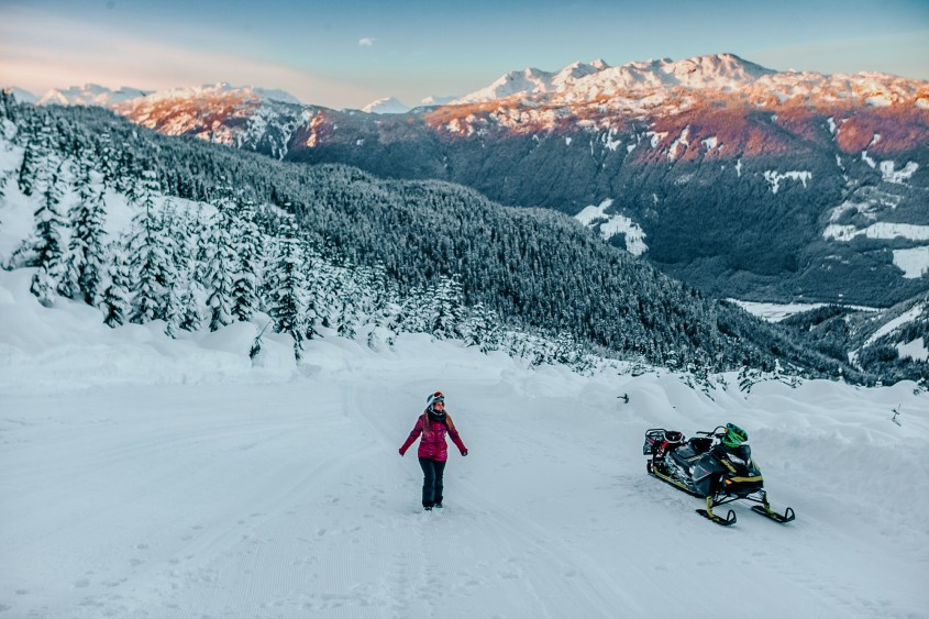 Looking for things to do in Whistler in Winter? Snowmobile tours are one of the funnest activities!