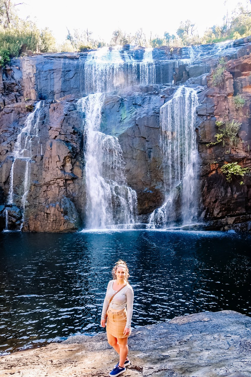 McKenzie Falls is an easy hike in the Grampians National Park on the Melbourne to Adelaide Drive