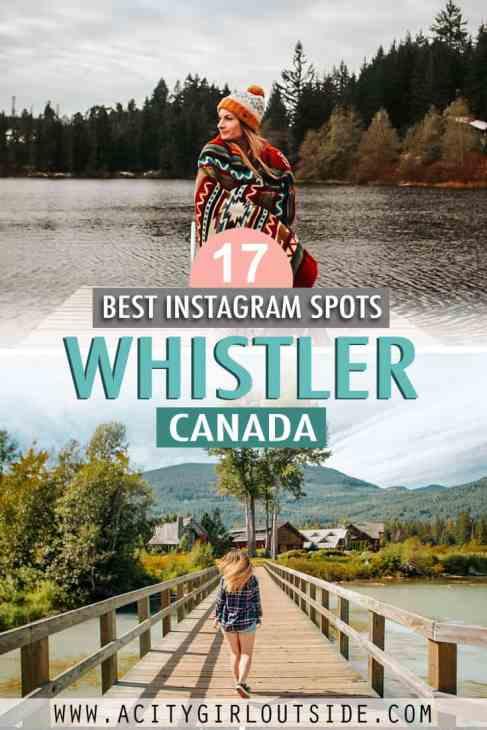 Where to take Instagram photos in Whistler BC