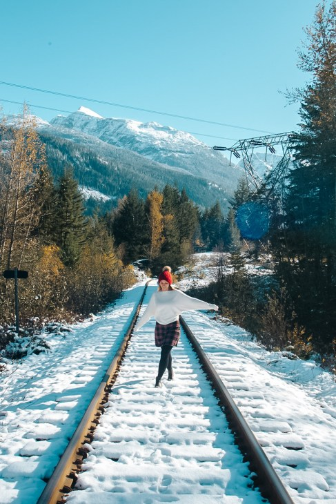 A winter day in Whistler Canada