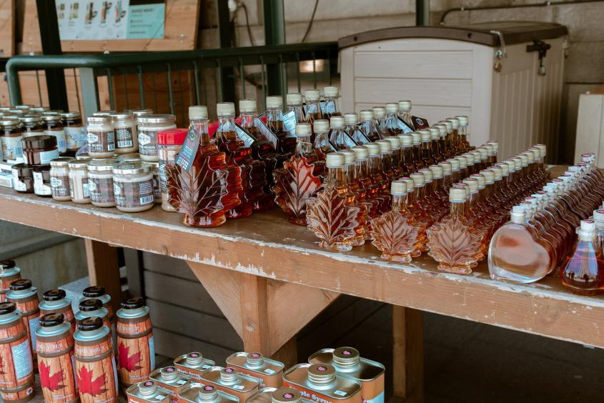 Canadian maple syrup - this top Canadian souvenir can be found in every province and gift shop