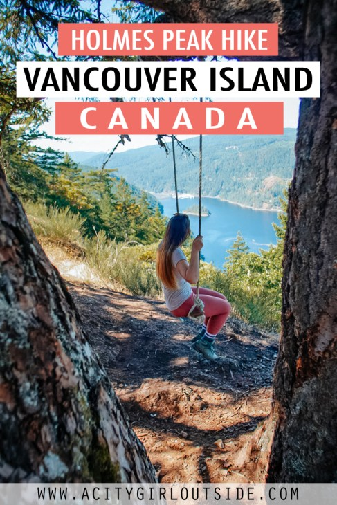 Holmes Peak hike with hidden swing near Victoria, BC