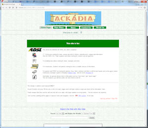 screenshot of Ackadia, 1999, v2.1