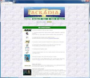screenshot of Ackadia, 2000, v2.2