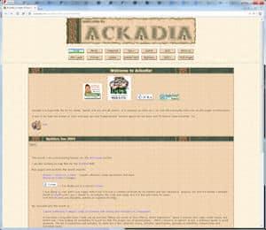 screenshot of Ackadia, 2003, v5.3