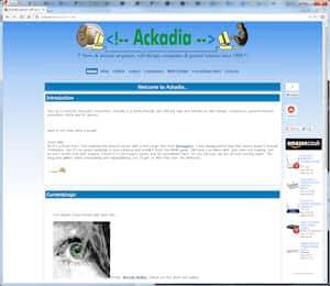 screenshot of Ackadia, 2005, v7.14