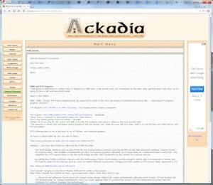 screenshot of Ackadia, 2004, v6.0