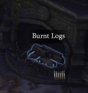 Burnt logs in Leorics Manor