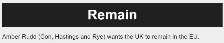 BBC, Amber Rudd, Remain