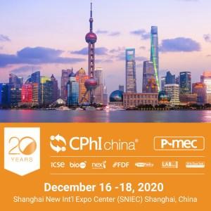 We will be at CPhI & P-MEC China 2020