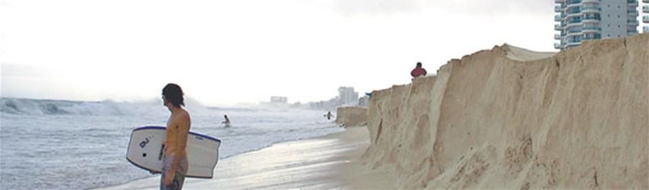 Fotografía tomada despues del huracán Ida.