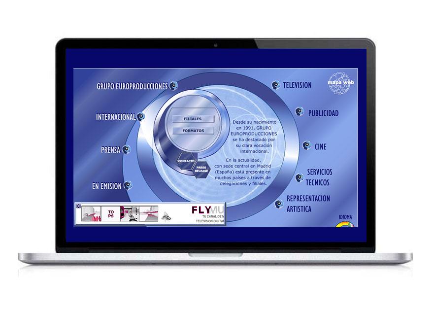 Diseño web en flash de Europroducciones