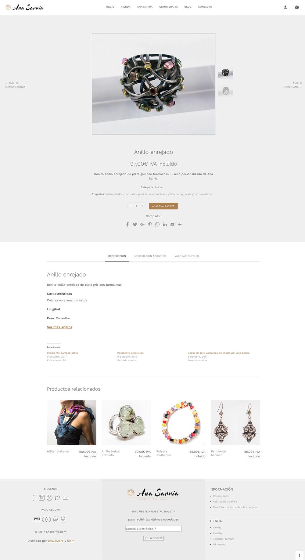 diseño tienda online ana sarria