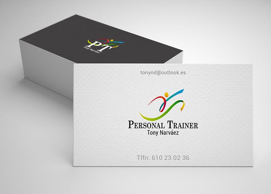 Identidad de marca Personal Trainer portafolio diseño gráfico. Estudio Aclararte