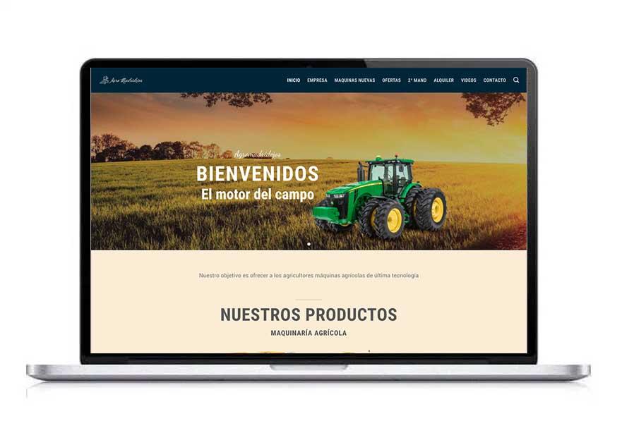 web agromadridejos portafolio Clara Ortega