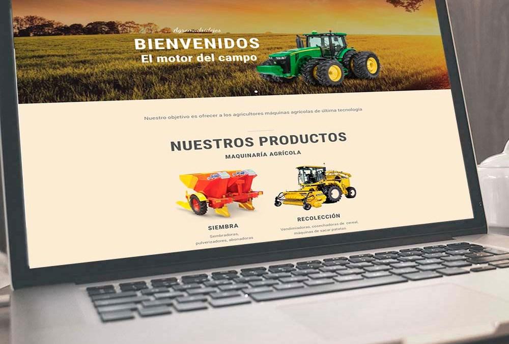 Web de maquinaria agrícola para agromadridejos