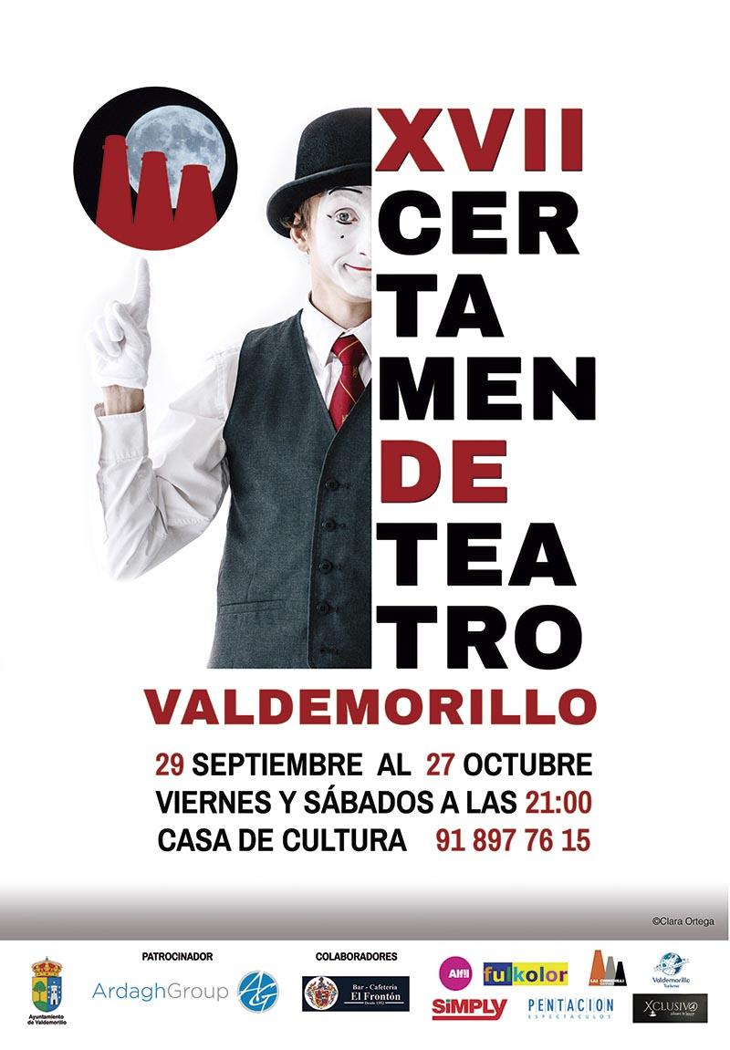 Cartel XVII Certamen de Teatro de Valdemorillo Portafolio aclararte Clara Ortega