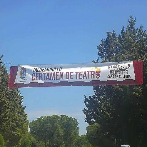 Pancarta para el Certamen de Teatro de Valdemorillo