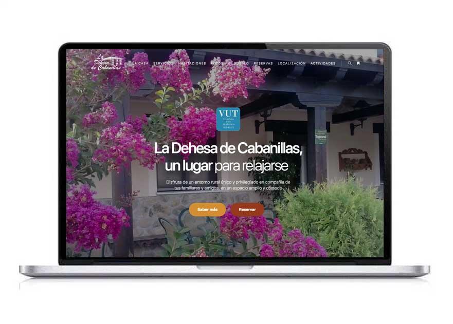 la dehesa de cabanillas diseño web casa rural
