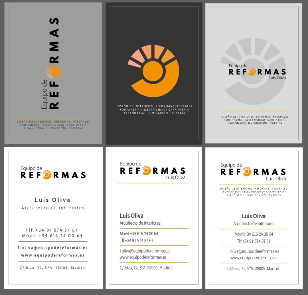 Diseño tarjetas equipo de reformas- Klerr