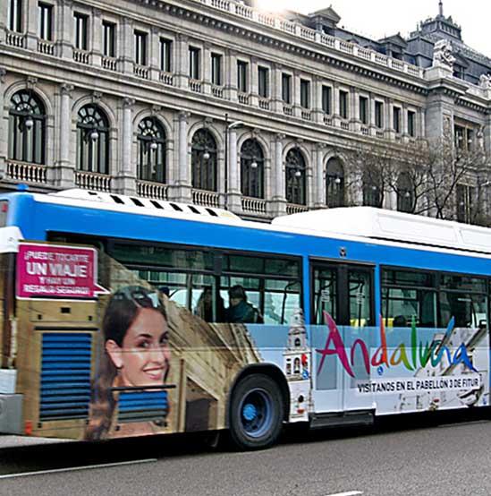 Publicidad en autobuses. Estudio Aclararte
