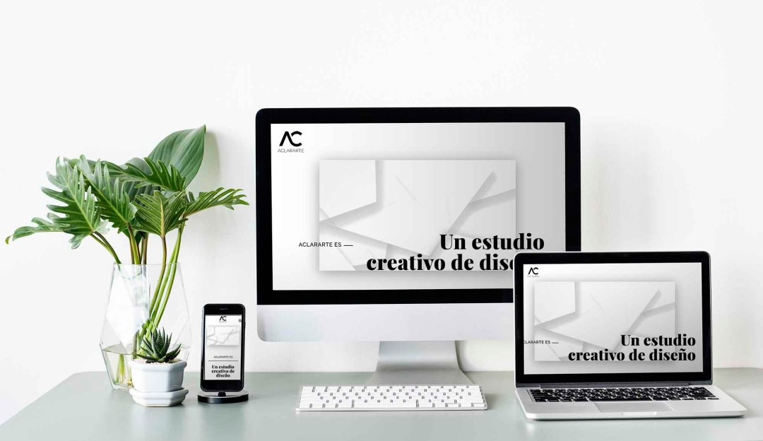 Diseño gráfico y web. Estudio Aclararte.
