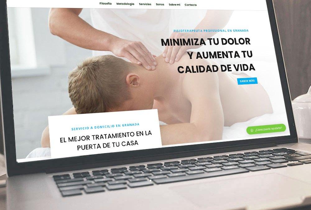 Onepage de fisioterapia, Rubén Martín