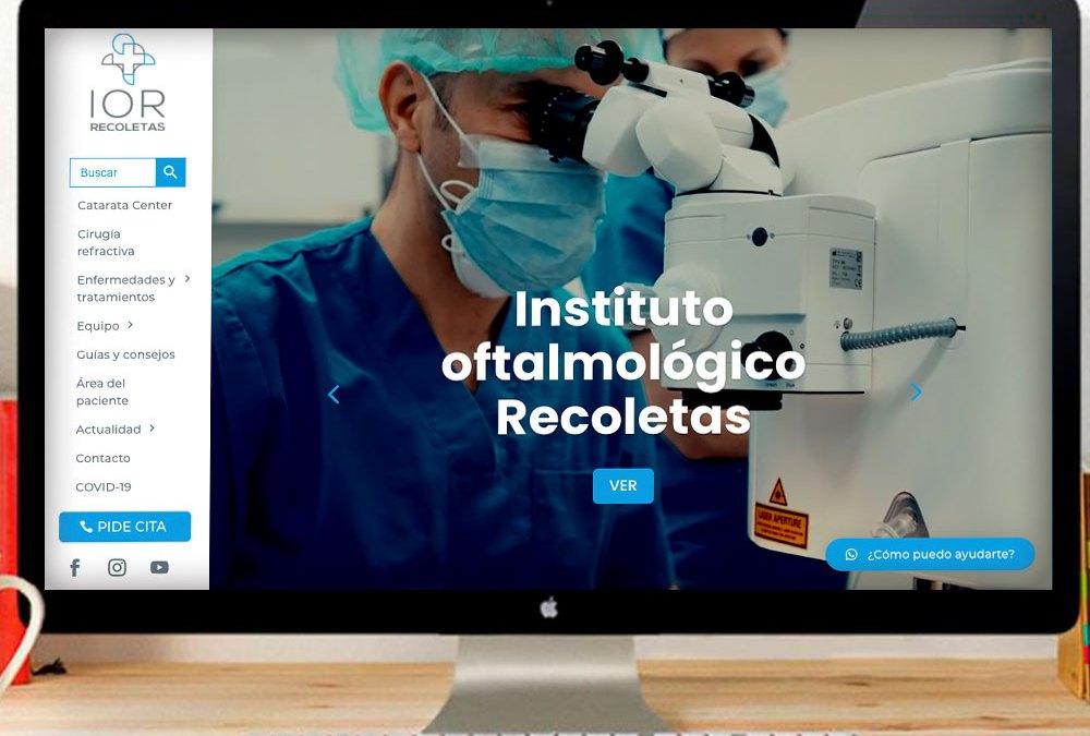 Web corporativa del Instituto Oftalmológico Recoletas