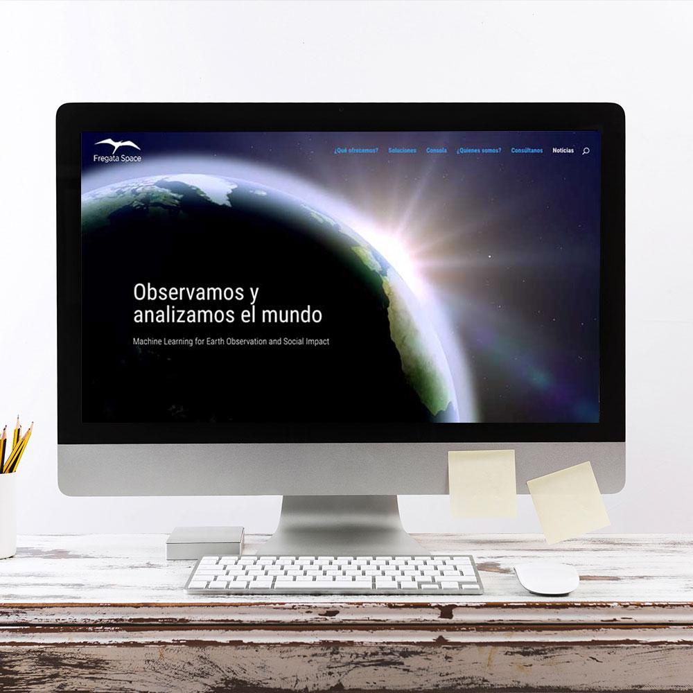 Diseño de la Web corporativa Onepage de Fregata. Estudio Aclararte.