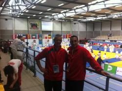 Yann et Olivier au Championnat d'Europe KATA de Herstal (Belgique).