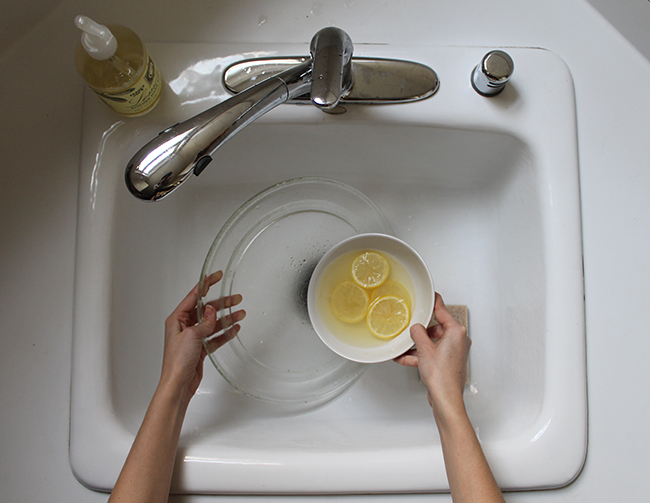 Use microwaved lemon water to clean your microwave
