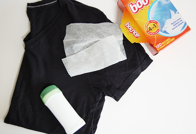 Clothing stain removal techniques for deodorant, lipstick, and foundation makeup stains