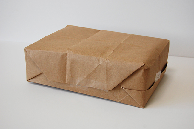 Recycled gift wrap ideas - paper bag