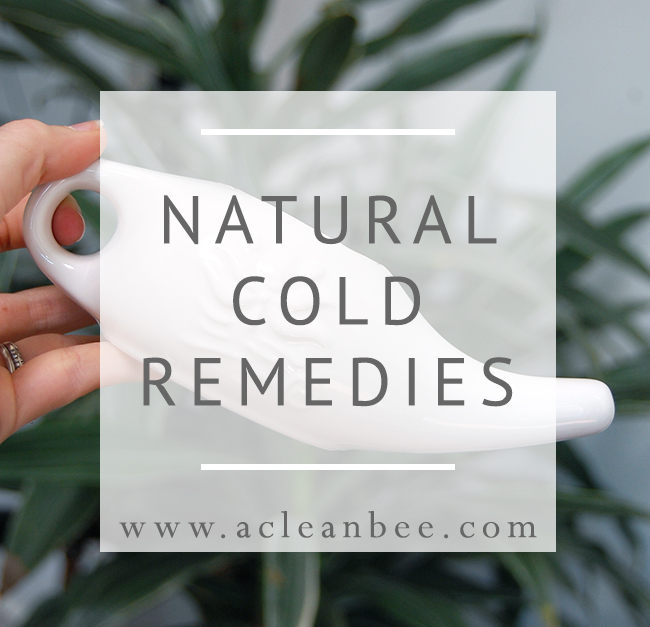Natural cold remedies - neti pot, diluted oregano oil, essential oil diffuser, loose leaf organic tea