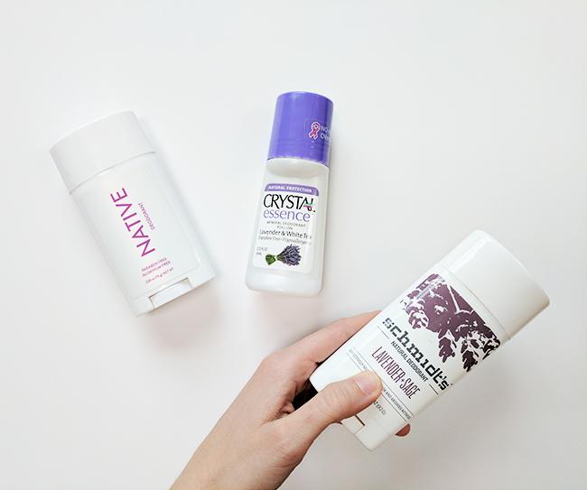 Testing three popular natural deodorant brands