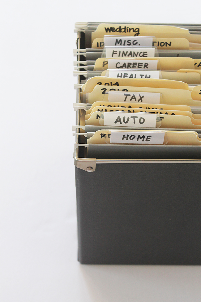 Paper file organization tips and how to minimize paper clutter!