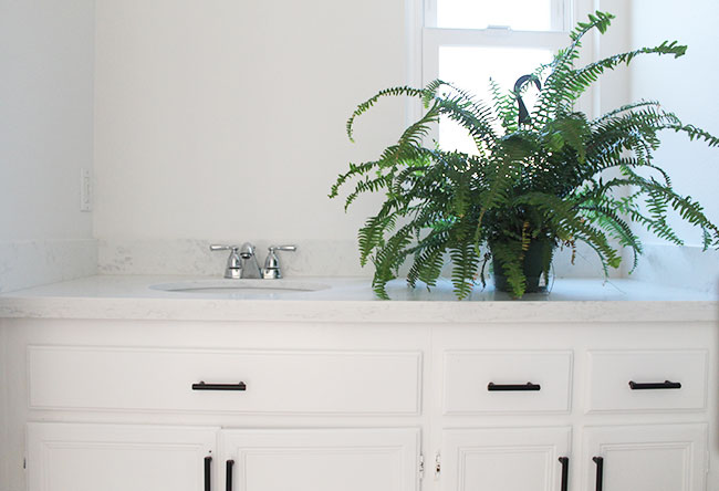 Small bathroom makeover - countertop and faucet upgrades