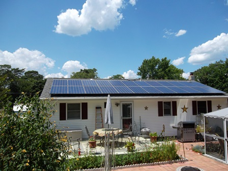 Image result for solar panels on roof of ranch home
