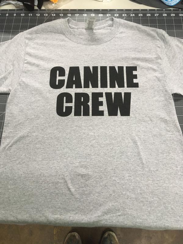 CANINE CREW T-Shirt - Gray