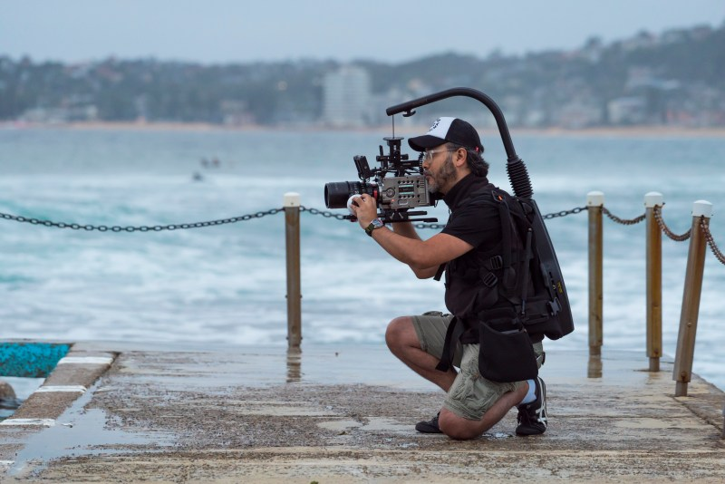 Clinton Harn at Narrabeen Rock Pools in Victoria testing the Sigma Cine Prime Lenses - PHOTO Timoth Tan